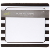 Black & White Striped Mouse Pad Notepad